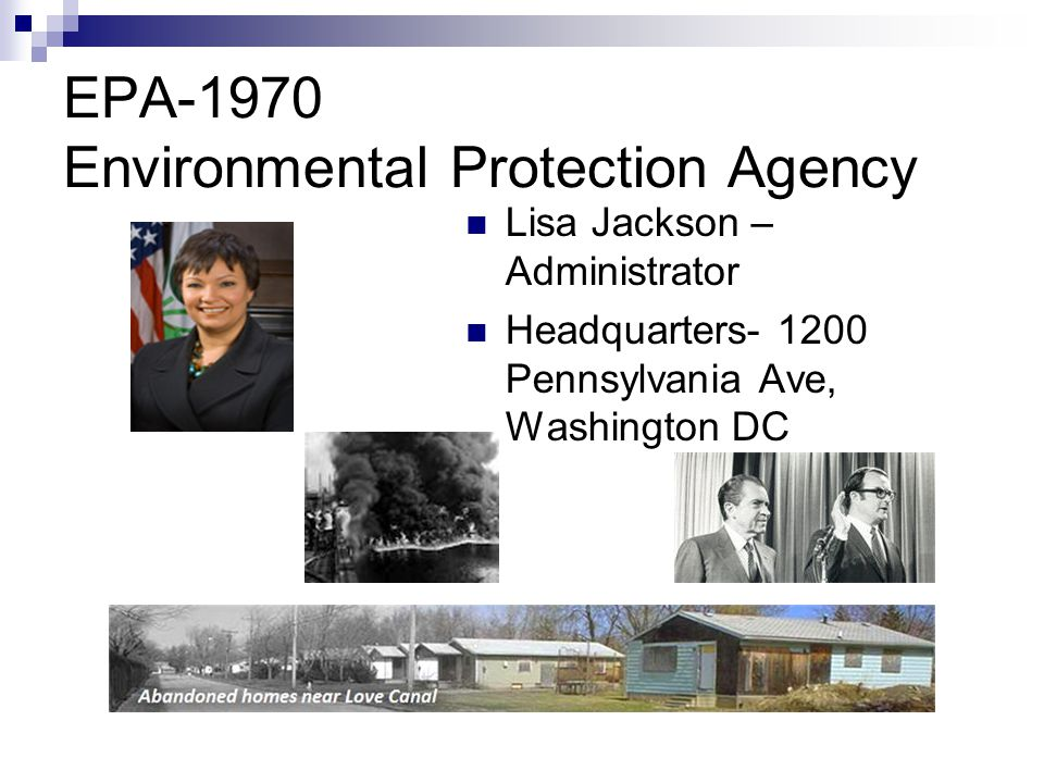 EPA-1970 Environmental Protection Agency