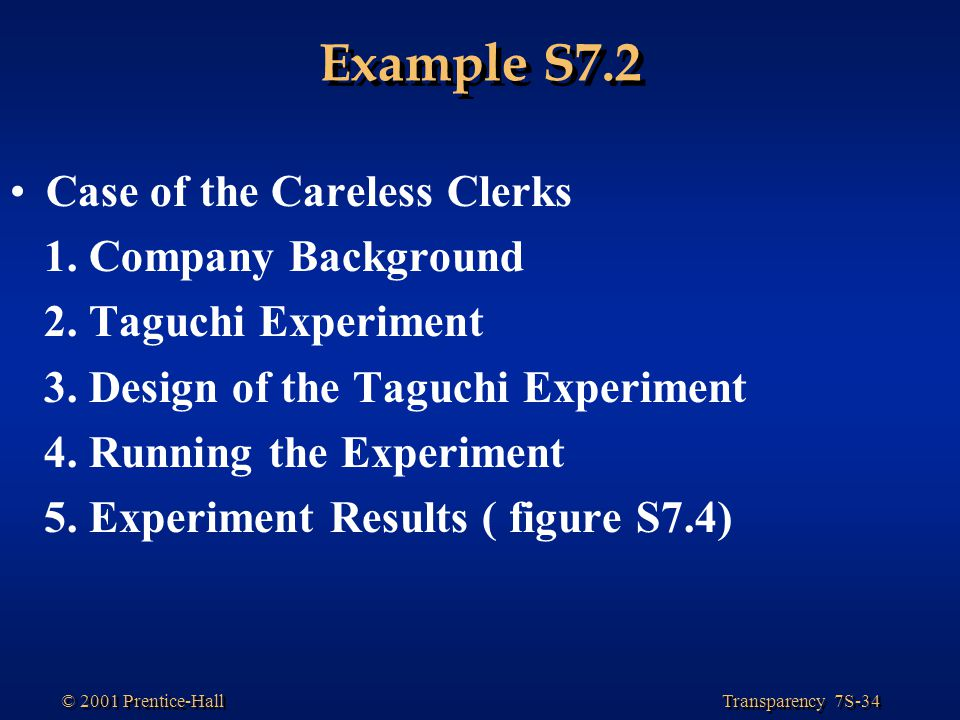 Example S7.2 Case of the Careless Clerks 1. Company Background