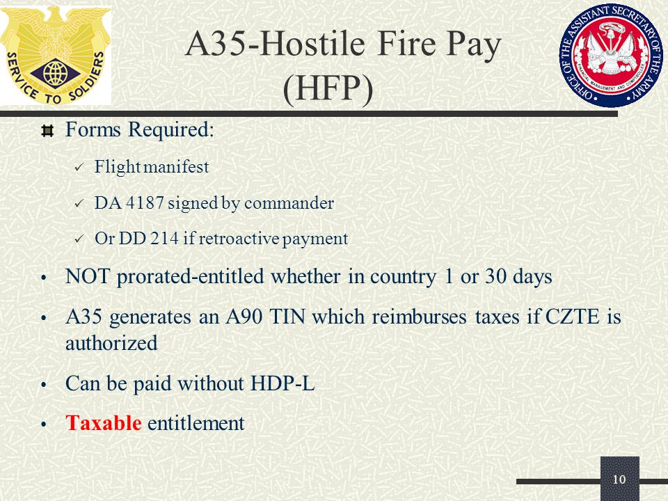 A35-Hostile Fire Pay (HFP)