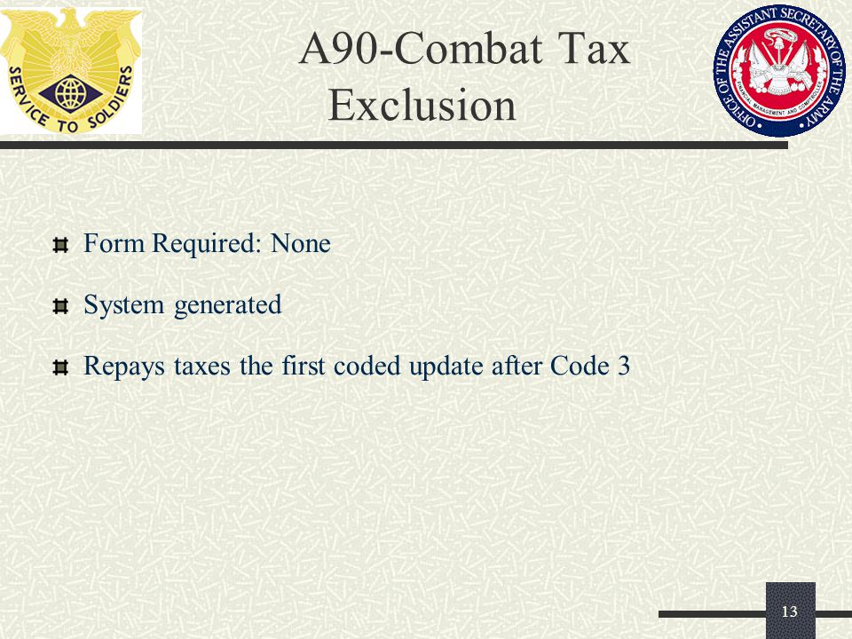 A90-Combat Tax Exclusion