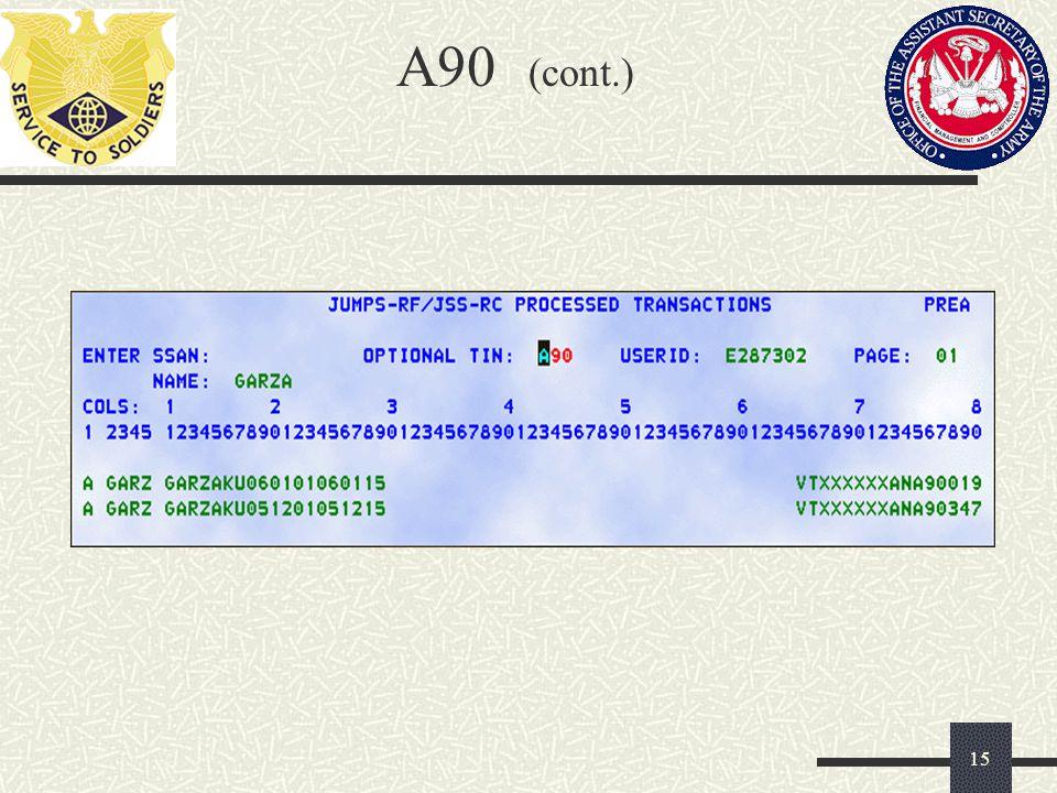 A90 (cont.)
