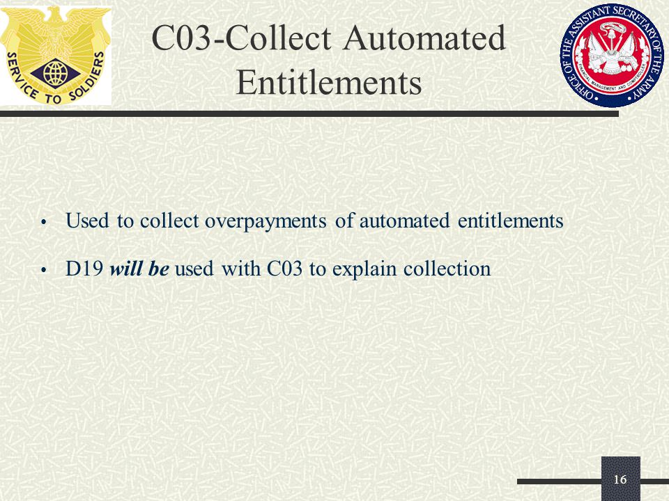 C03-Collect Automated Entitlements