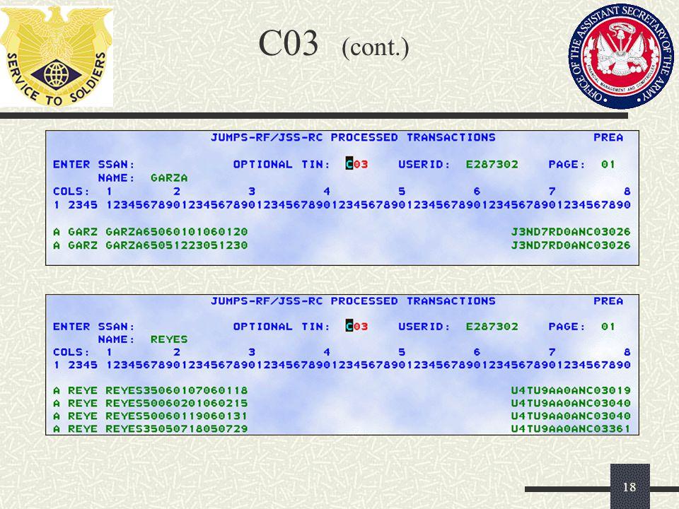 C03 (cont.)
