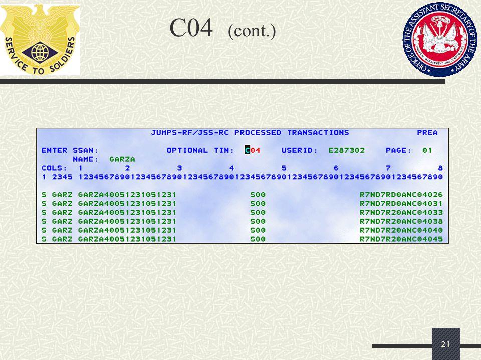 C04 (cont.)