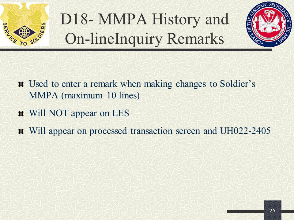 D18- MMPA History and On-lineInquiry Remarks