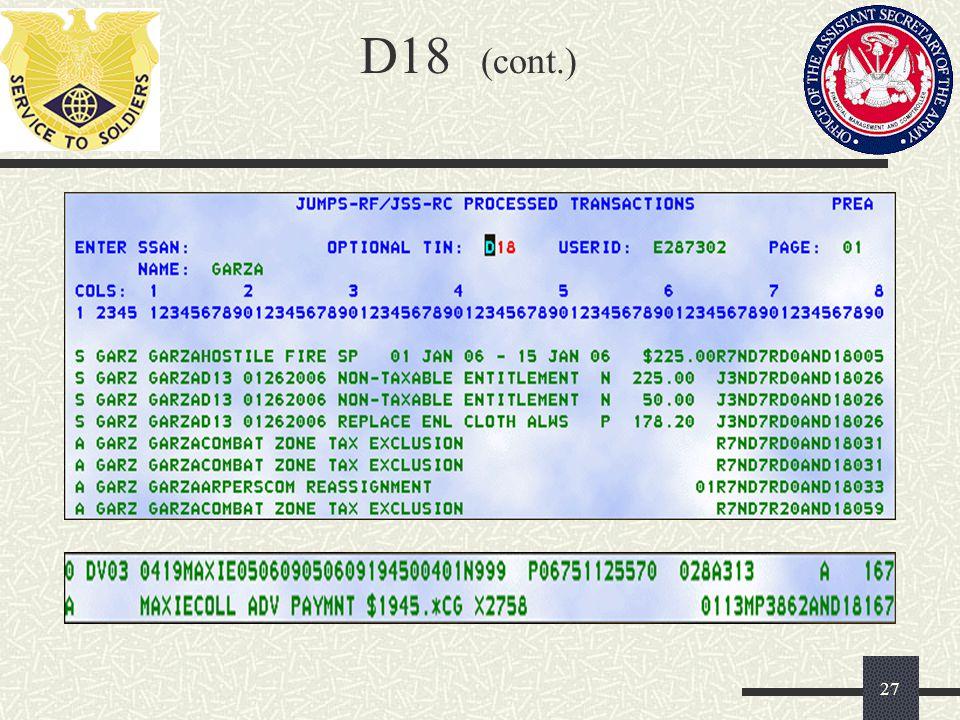 D18 (cont.)