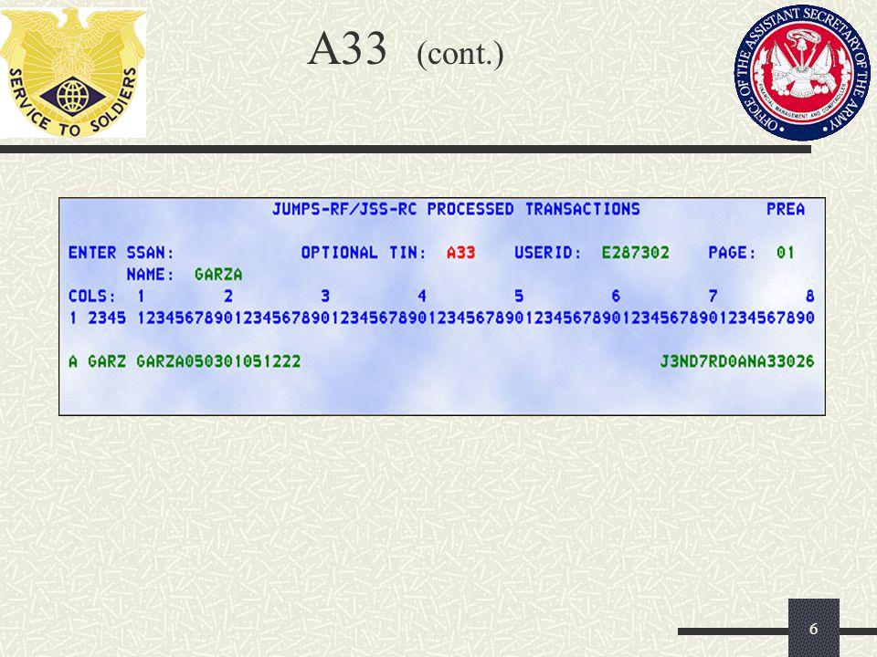 A33 (cont.)