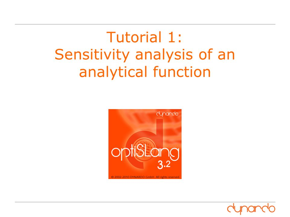 Tutorial 1: Sensitivity analysis of an analytical function