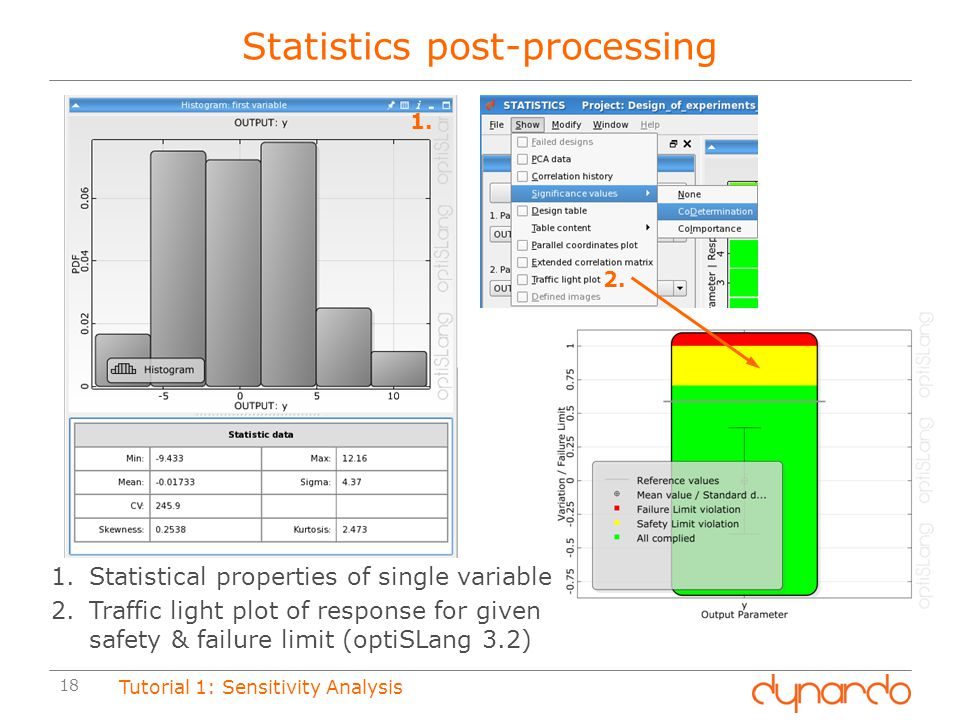 Statistics post-processing