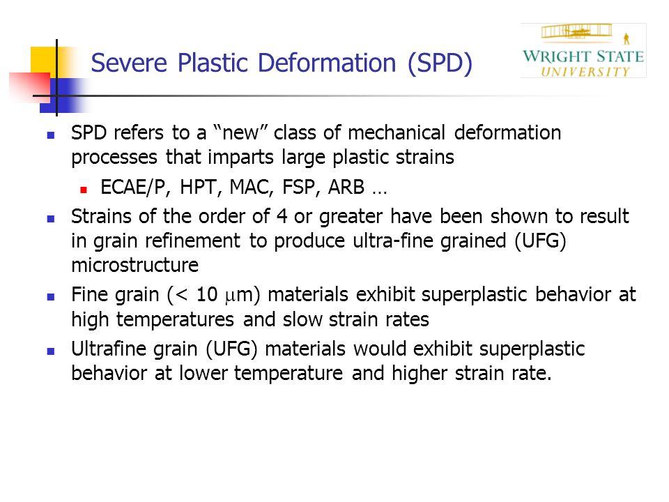 Severe Plastic Deformation (SPD)