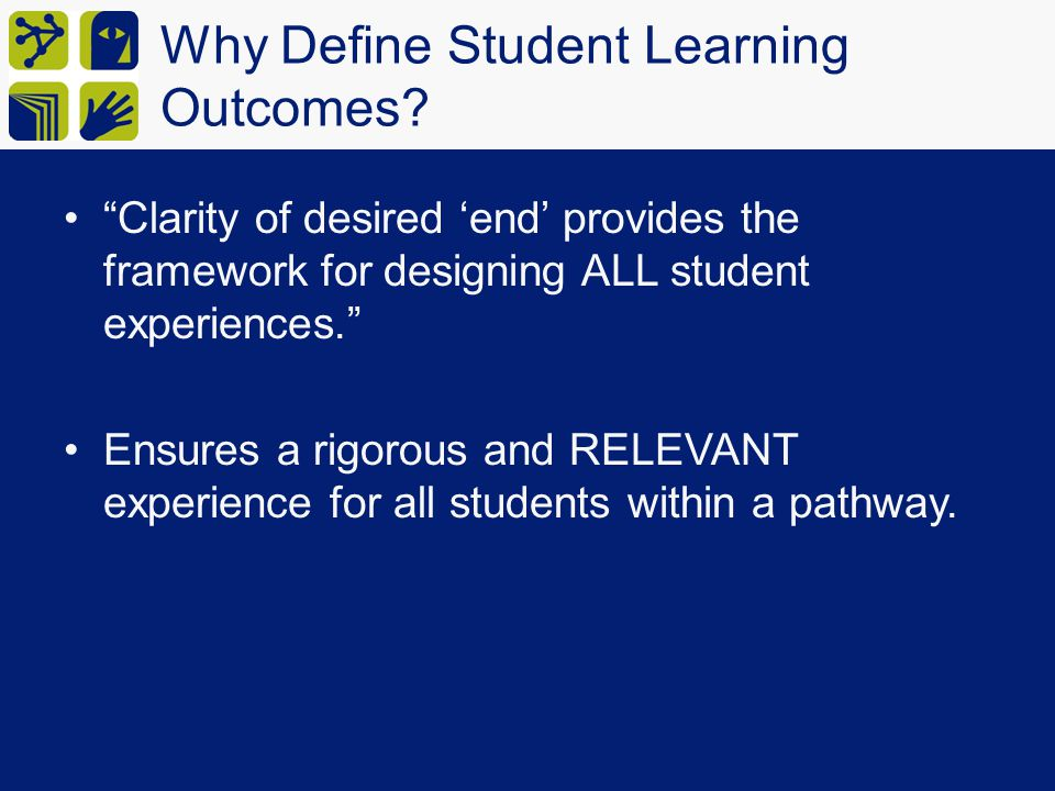 Why Define Student Learning Outcomes