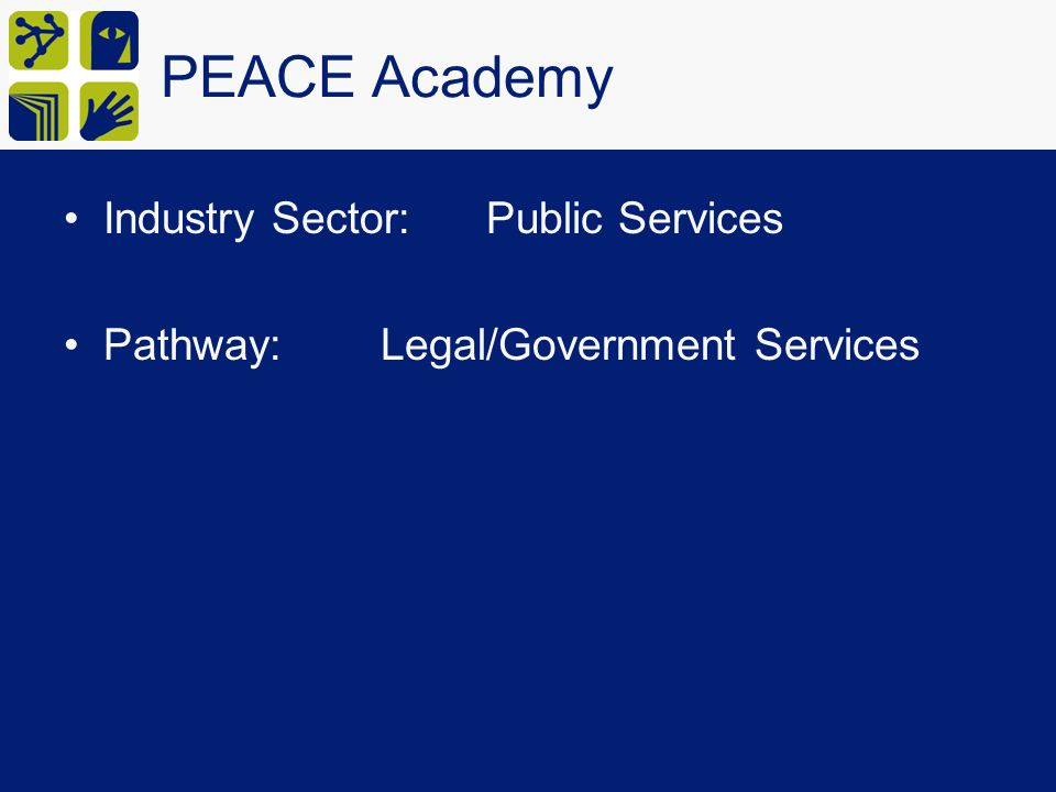 PEACE Academy Industry Sector: Public Services