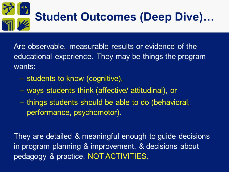 Student Outcomes (Deep Dive)…