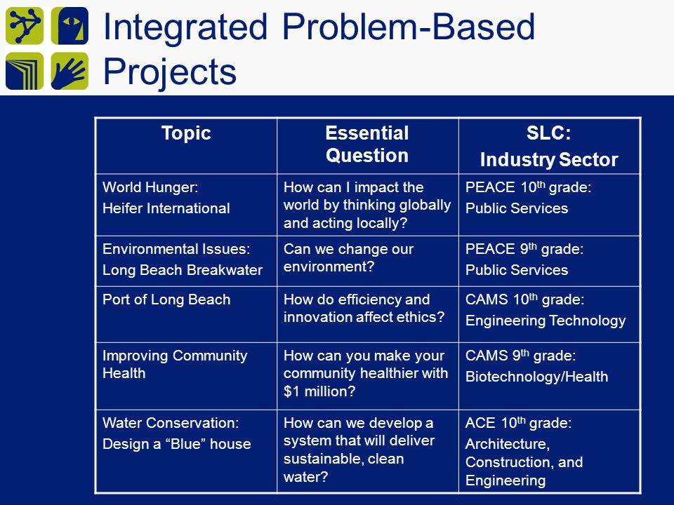 Integrated Problem-Based Projects