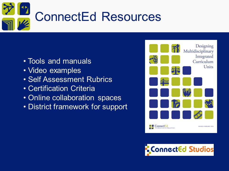ConnectEd Resources Tools and manuals Video examples