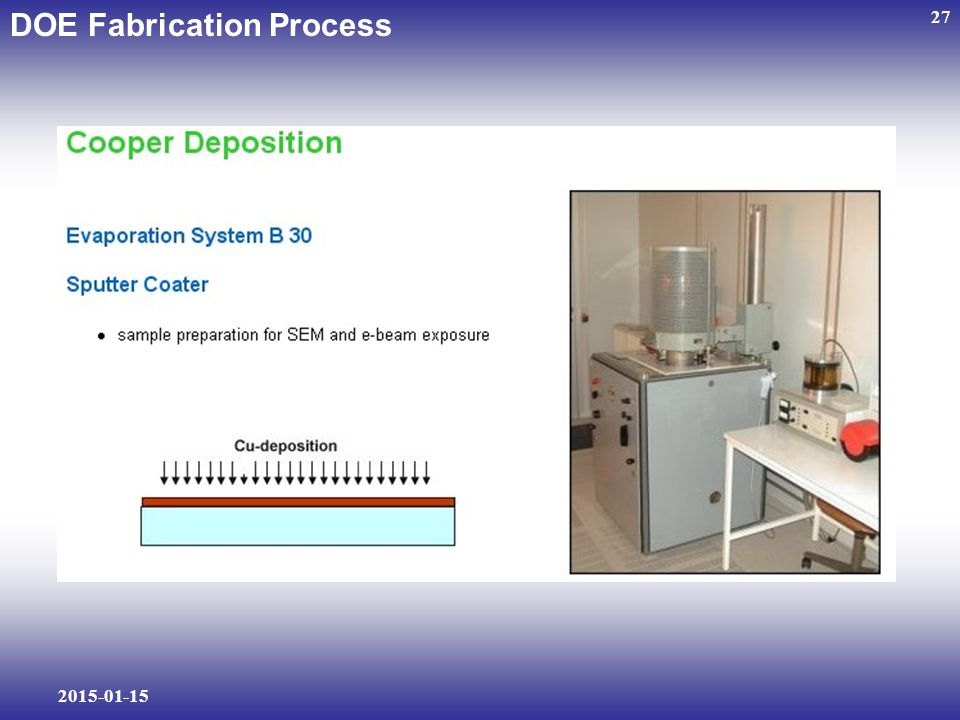 DOE Fabrication Process