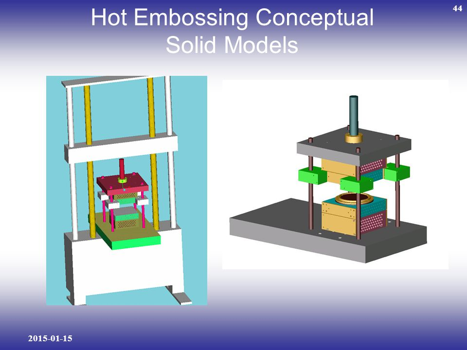 Hot Embossing Conceptual Solid Models
