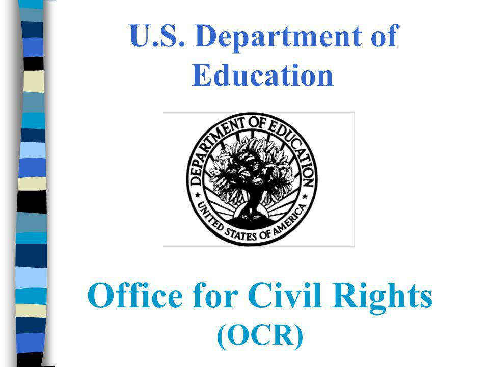 Education Department Civil Rights >> U S Department Of Education Office For Civil Rights Ppt Video