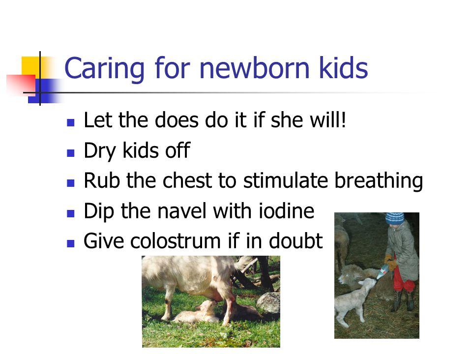 Caring for newborn kids