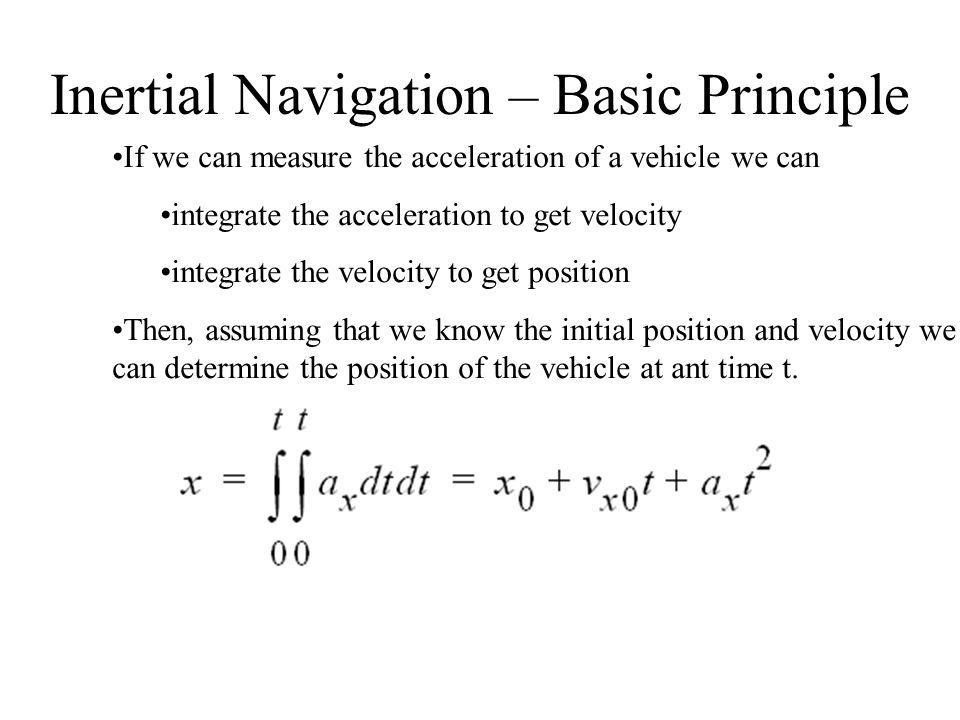 Inertial Navigation – Basic Principle