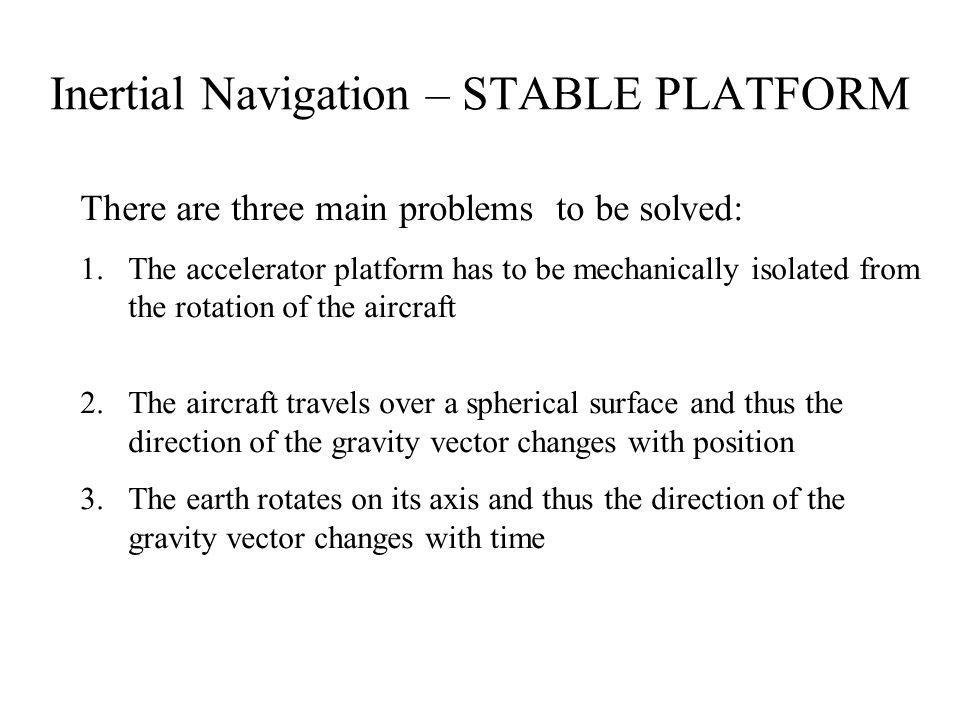 Inertial Navigation – STABLE PLATFORM