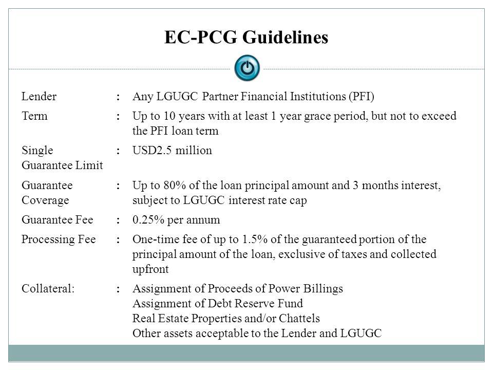 EC-PCG Guidelines Lender :