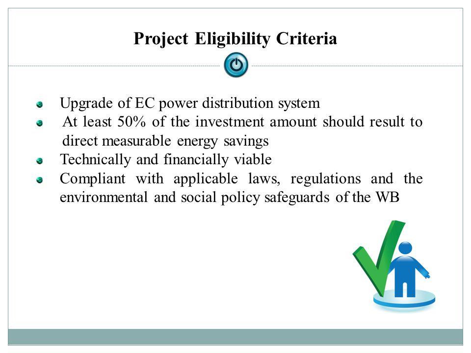 Project Eligibility Criteria