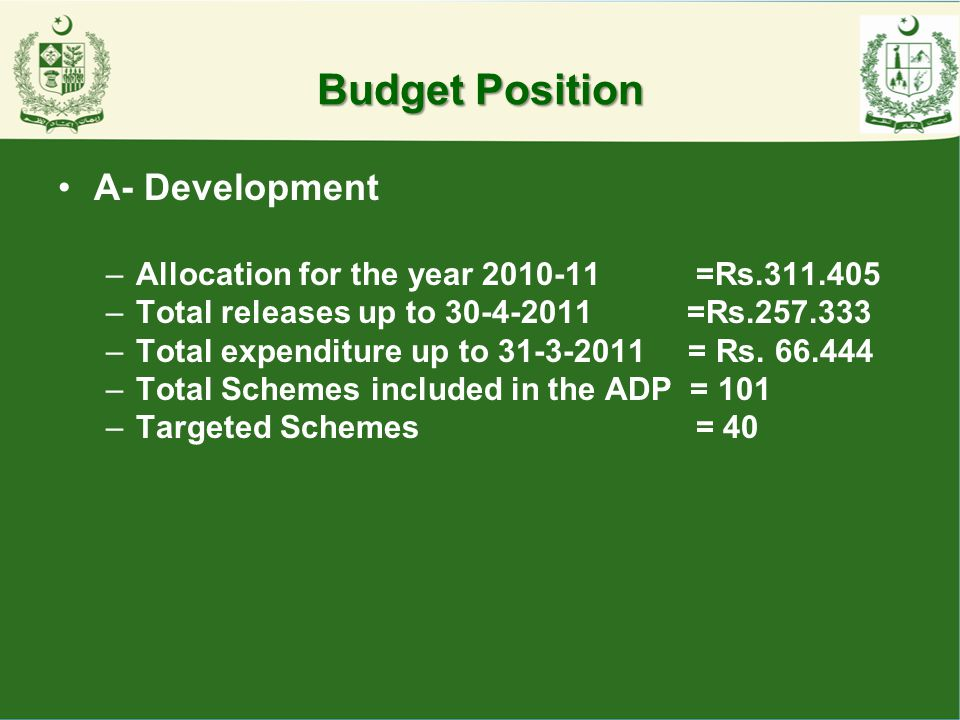 Budget Position A- Development
