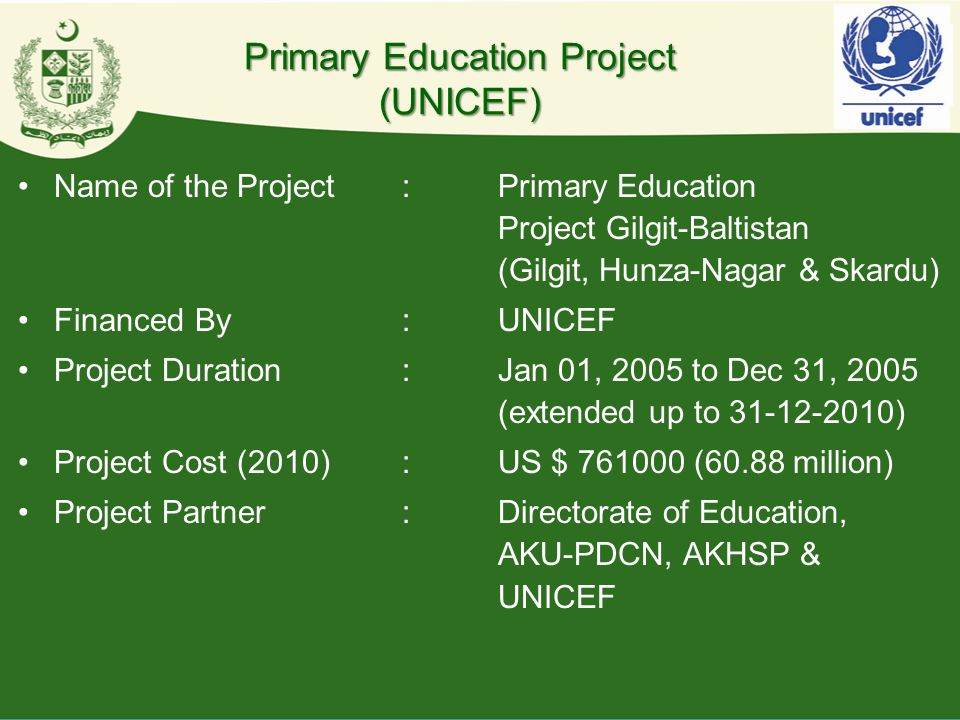 Primary Education Project (UNICEF)