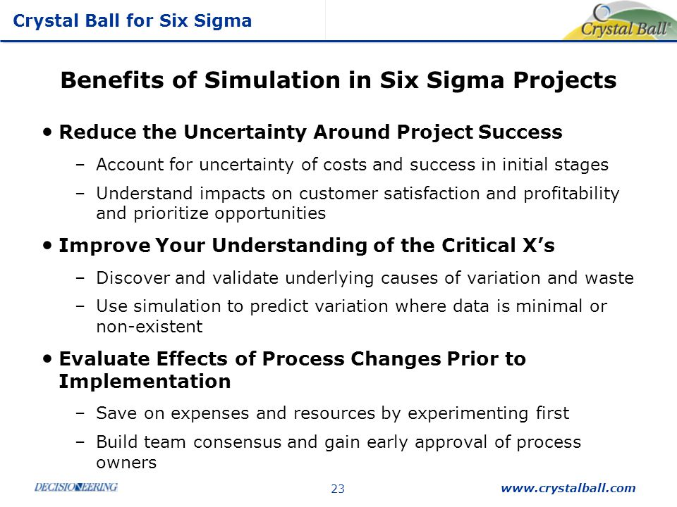 Benefits of Simulation in Six Sigma Projects