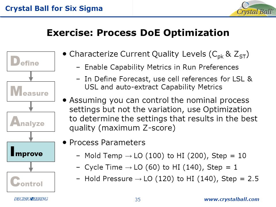 Exercise: Process DoE Optimization