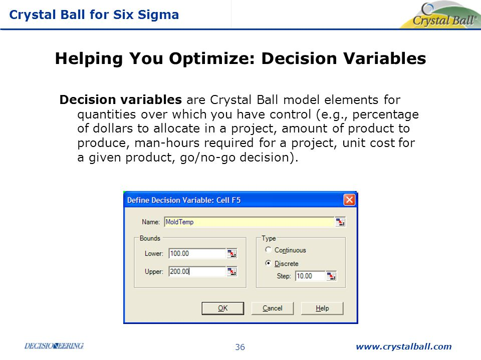 Helping You Optimize: Decision Variables
