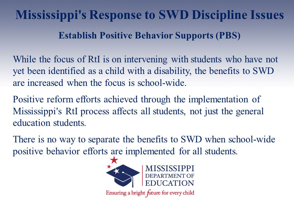 Mississippi s Response to SWD Discipline Issues