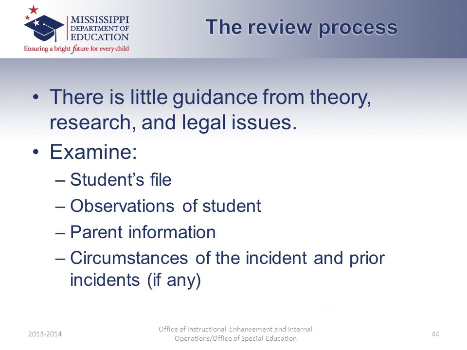 There is little guidance from theory, research, and legal issues.