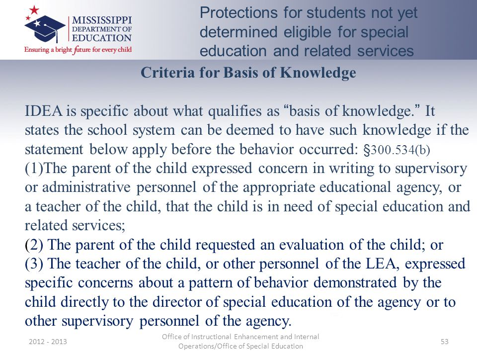 Criteria for Basis of Knowledge