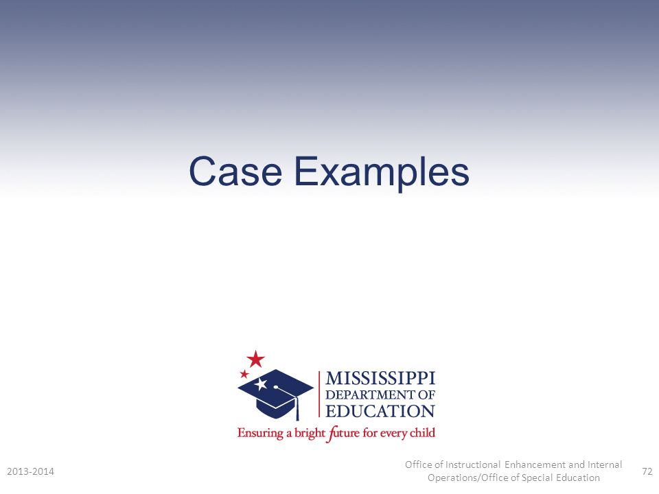 Case Examples 2013-2014.