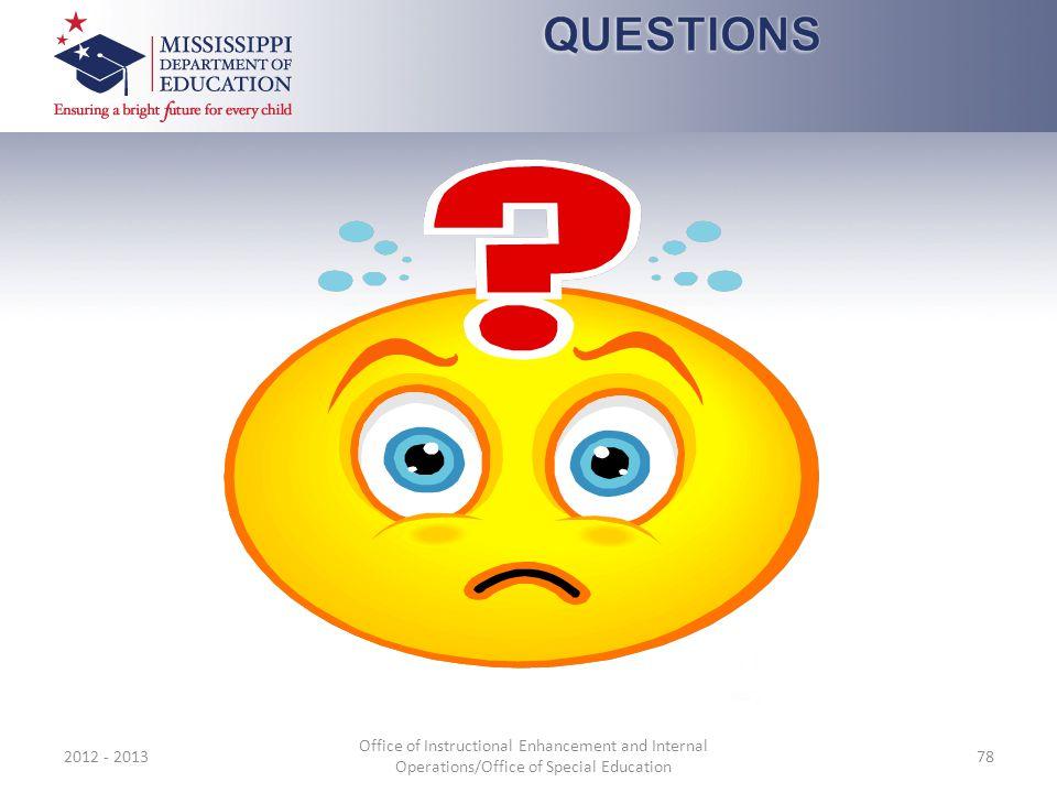 QUESTIONS 2012 - 2013.
