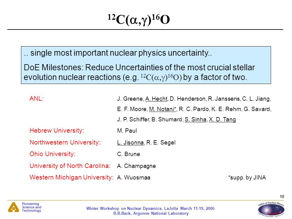 12C(a,g)16O .. single most important nuclear physics uncertainty..
