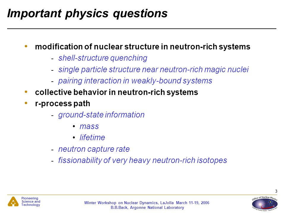Important physics questions