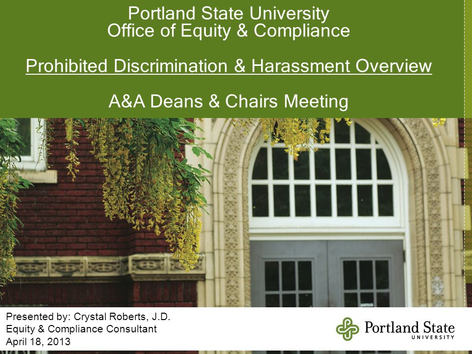 Portland State University Office of Equity & Compliance