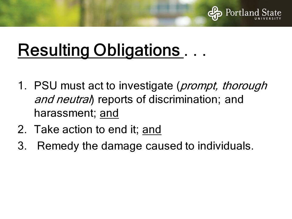 Resulting Obligations . . .