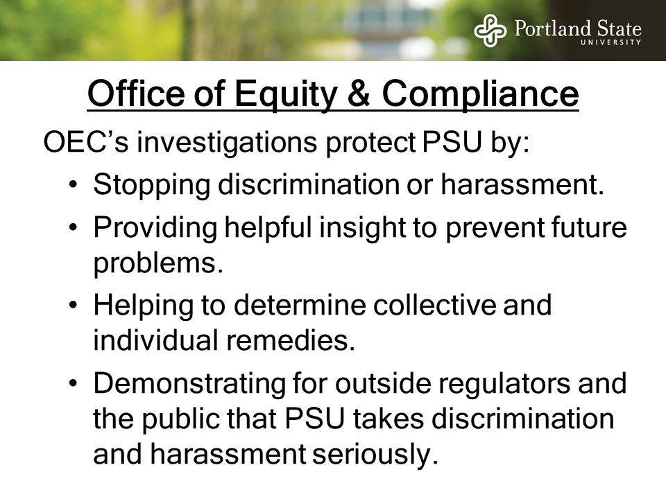 Office of Equity & Compliance