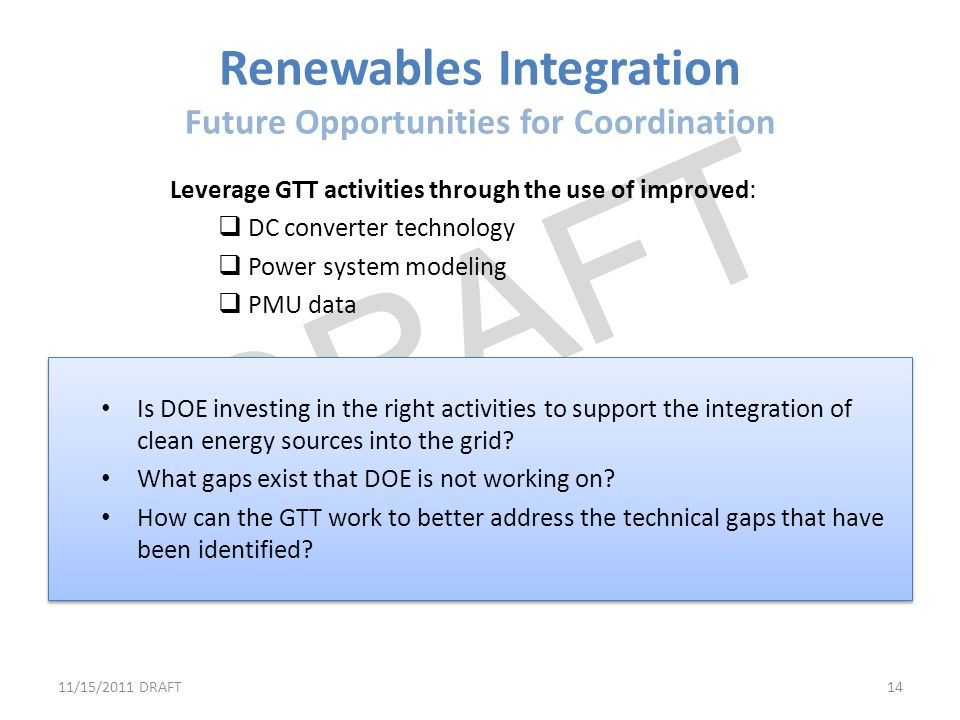 Renewables Integration Future Opportunities for Coordination