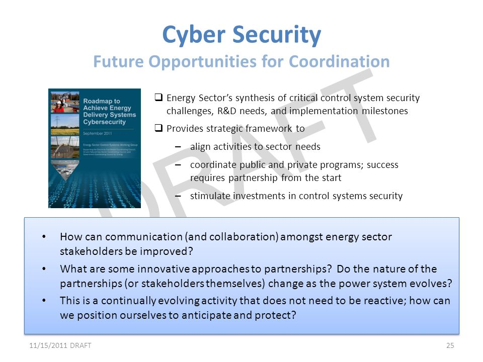 Cyber Security Future Opportunities for Coordination