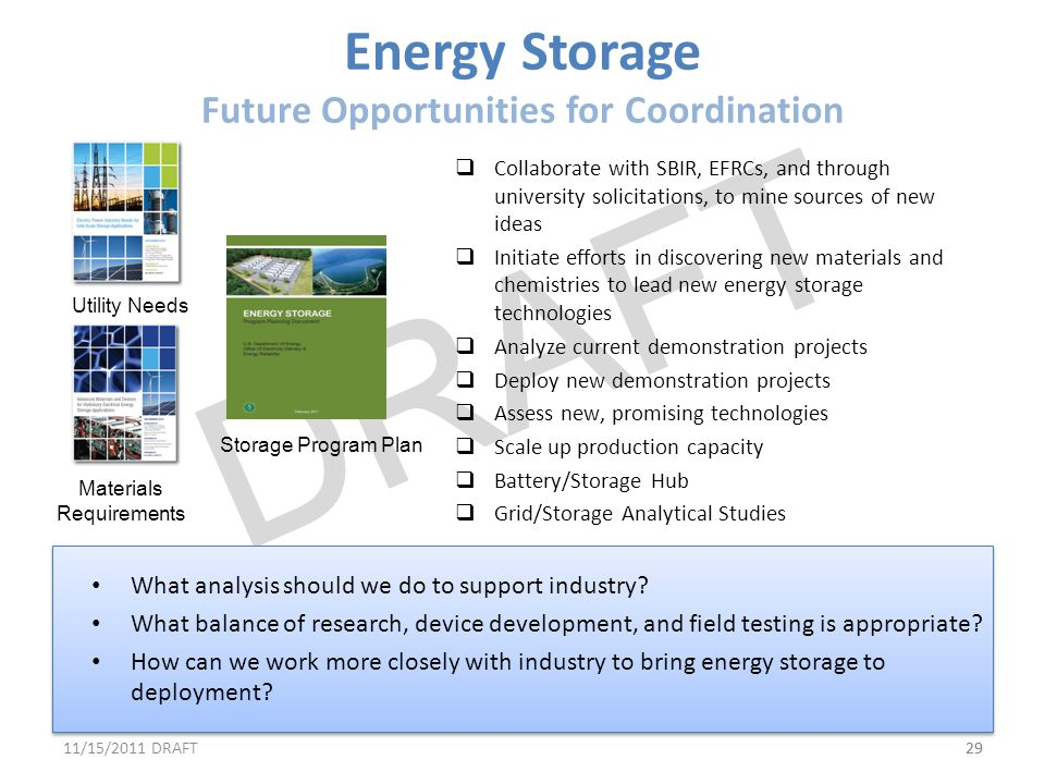 Energy Storage Future Opportunities for Coordination