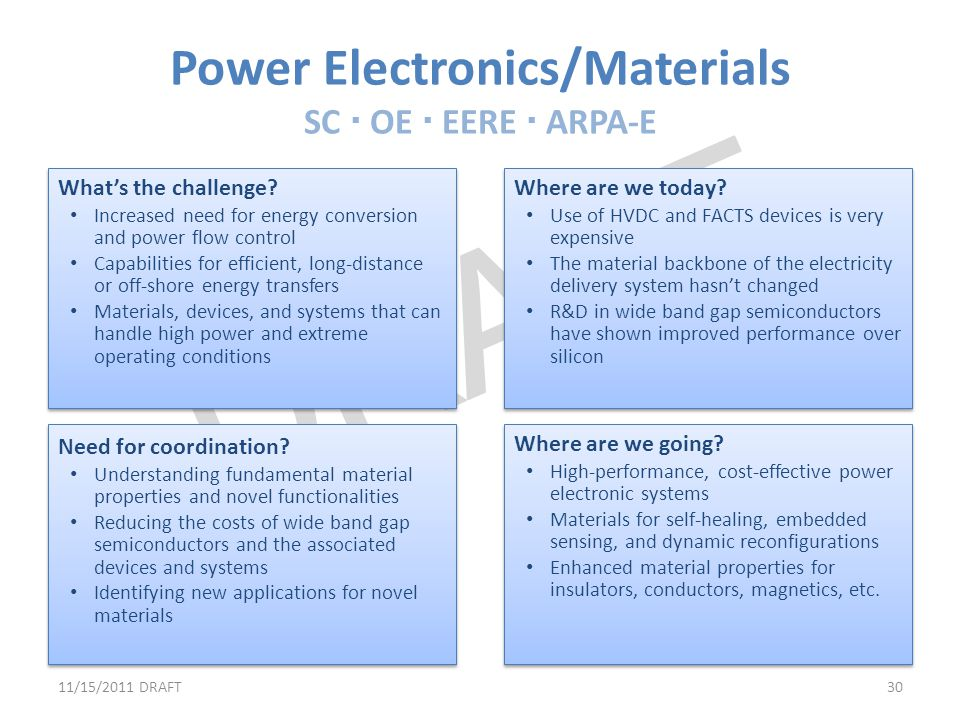 Power Electronics/Materials SC  OE  EERE  ARPA-E