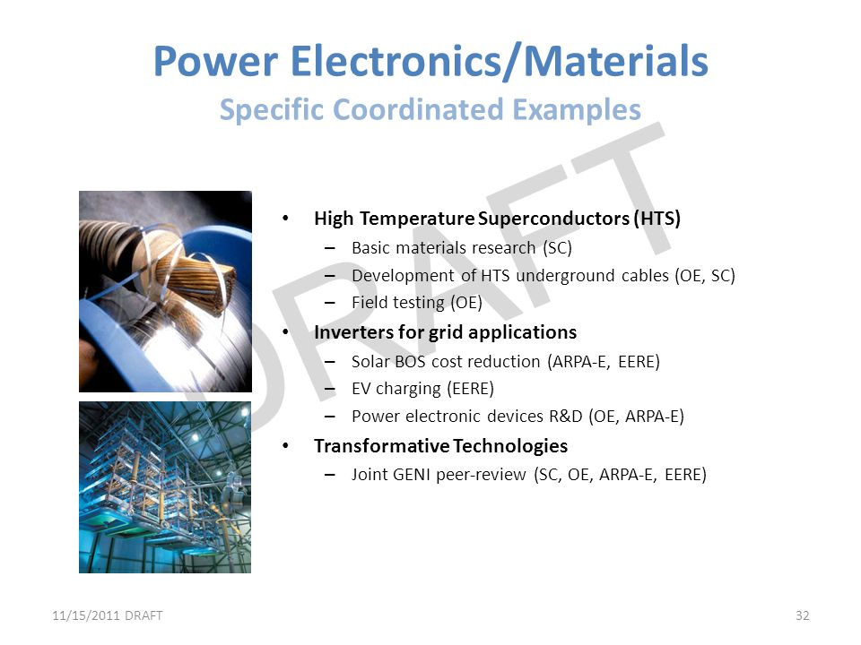 Power Electronics/Materials Specific Coordinated Examples