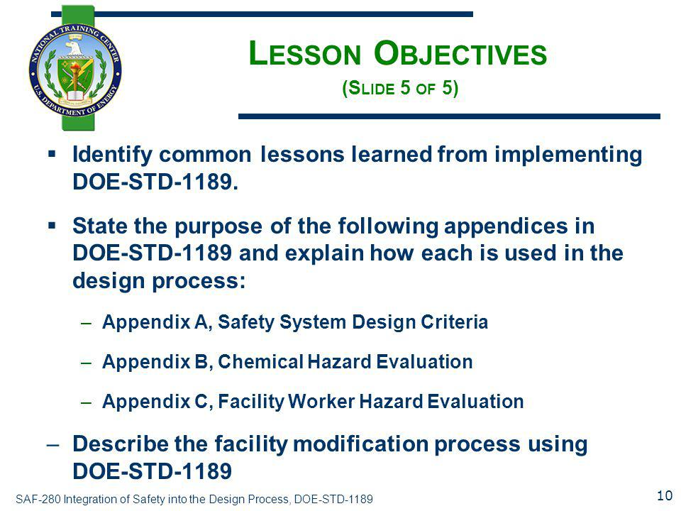 Lesson Objectives (Slide 5 of 5)