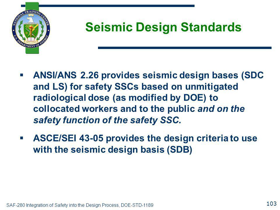 Seismic Design Standards