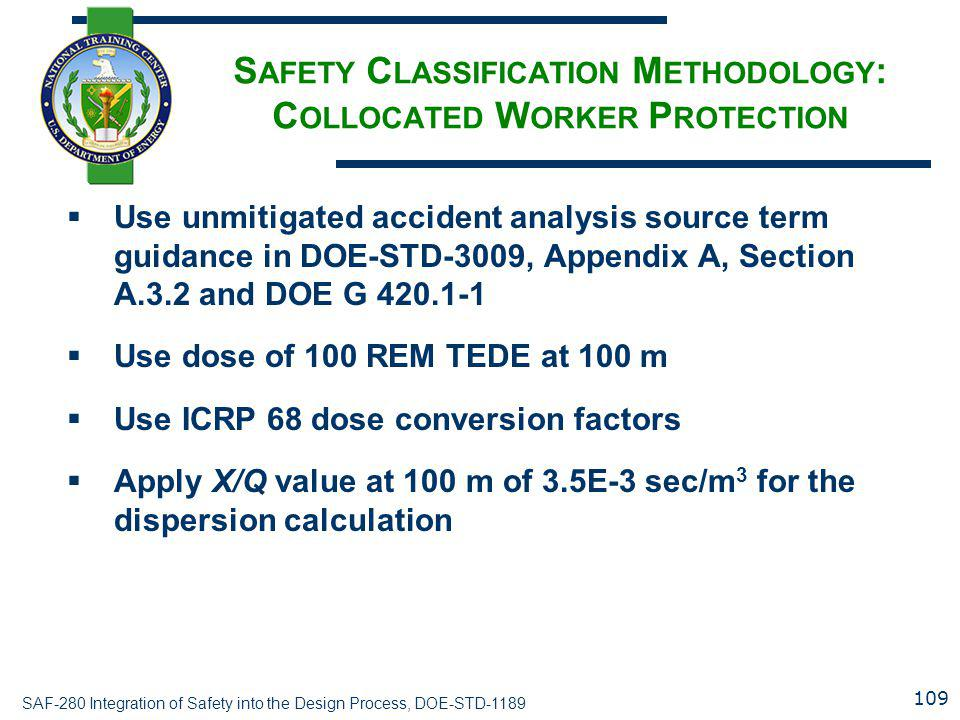 Safety Classification Methodology: Collocated Worker Protection